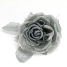 Double Petal Grey Two Tone Silk Rose